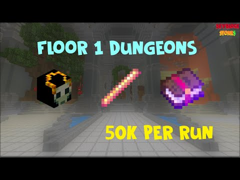 [Skyblock Stonks] How to Profit From Floor 1 Dungeons | 50K Per Run