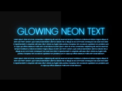 Glowing Neon Text Color Animation Effects | Html CSS
