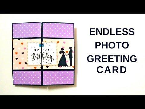 How To Make Endless Photo Card | DIY Mini Photo Album Scrapbook | Easy Photo Greeting Card