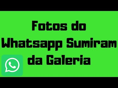 As fotos Whatsapp sumiram da Galeria