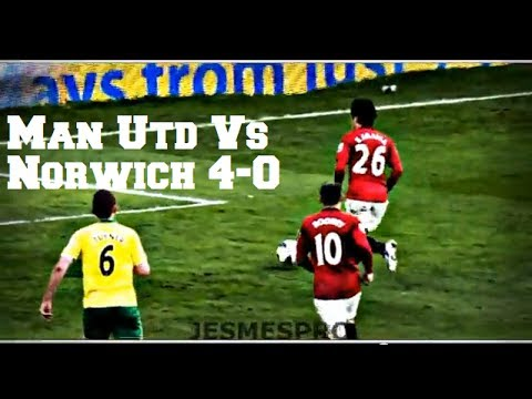 Manchester United vs Norwich City 4-0 (HD)
