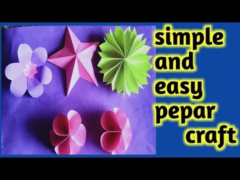 very easy and simple paper craft in Gujarati || DIY || LG vaghani