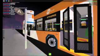 ROBLOX Buses: (EXCLUSIVE) MiWay #1502 departs Lenon Drive