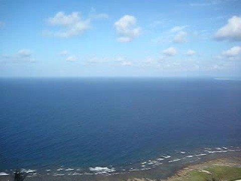 久米島の比屋定バンタからの景色