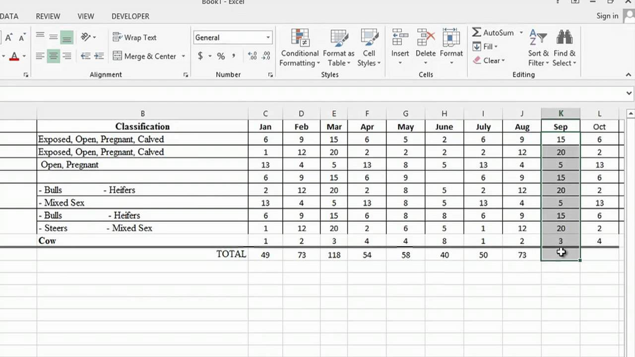how to use microsoft excel to track cattle ranching   ms