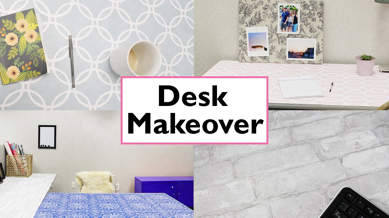 Office Desk Makeover Youtube