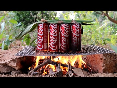 Beautiful Girl Cooking  How To Cook Beef In Cans Of Coca Cola Coke Village Food Factory My Country