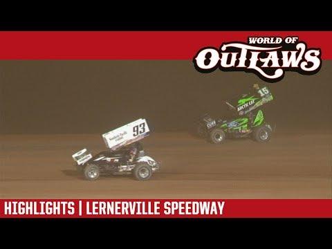 World of Outlaws Craftsman Sprint Cars Lernerville Speedway July 18, 2017 | HIGHLIGHTS