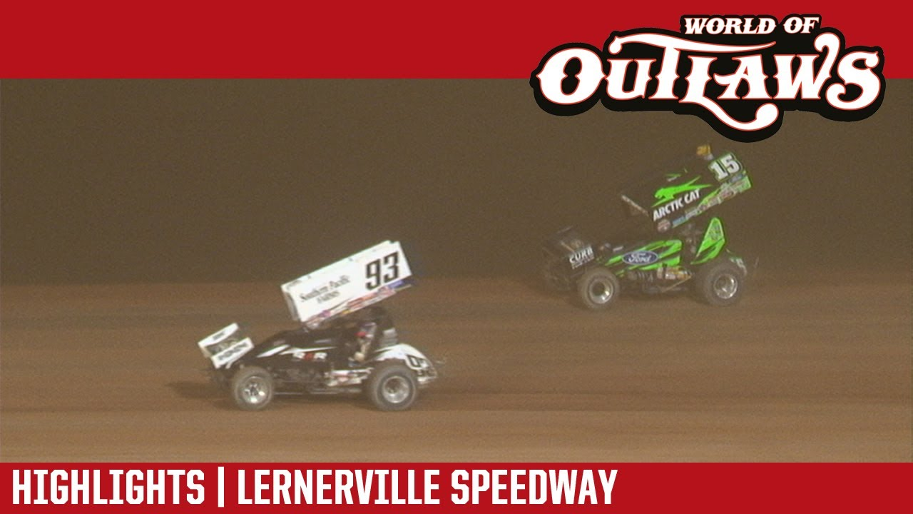 world of outlaws craftsman sprint cars lernerville speedway july