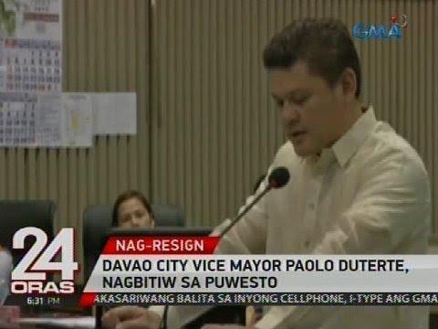Davao City Vice Mayor Paolo Duterte, nagbitiw sa pwesto