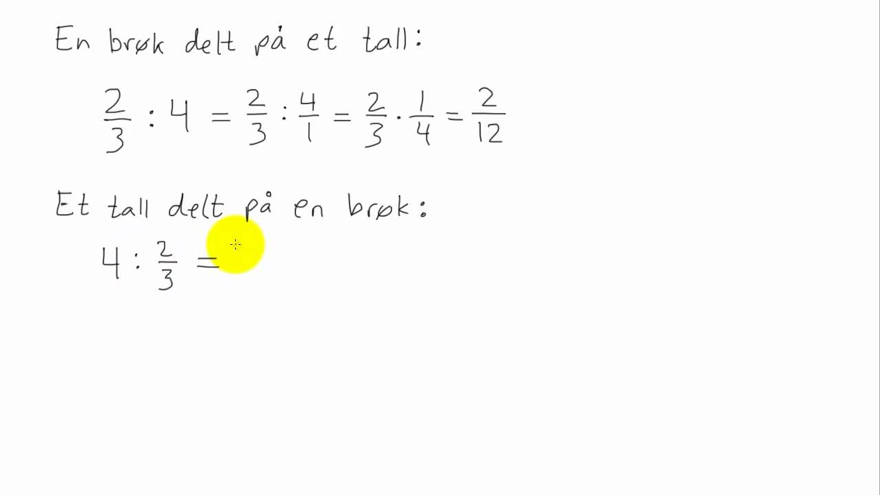 Matematikk 1P - 022 - Brøkregning