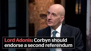 Lord Adonis calls on Jeremy Corbyn to endorse a second EU referendum on final Brexit deal