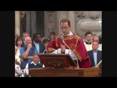 Benedetto XVI - Canto del Vangelo - Messa di Pentecoste 2009