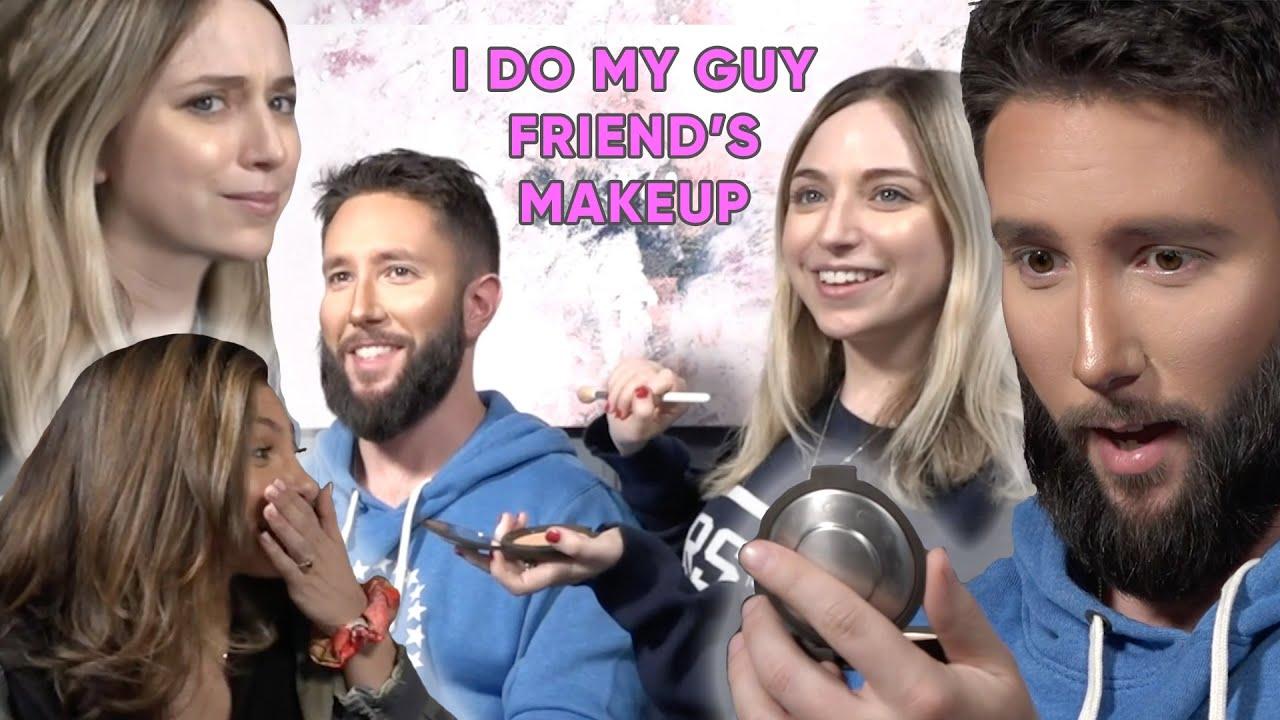 Doing My Guy Friend S Makeup Ft Jared Carrabis Ellie Schnitt
