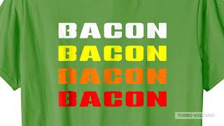 RETRO BACON T-SHIRT Launch Promo Bacon Tee