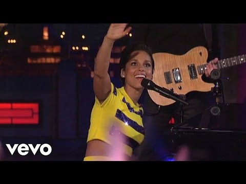 Alicia Keys  Empire State Of Mind Part II Broken Down  on Letterman
