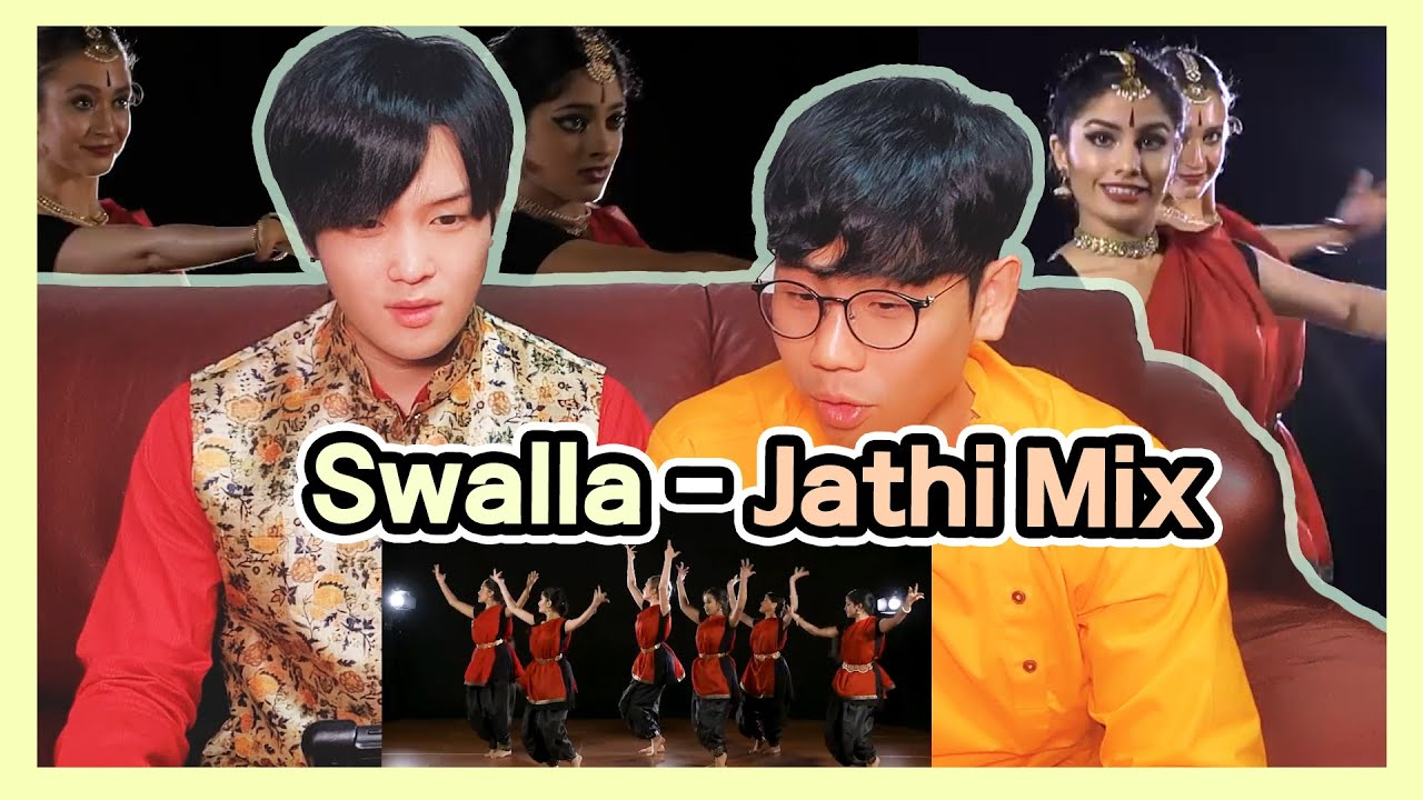 Koreans React to 【Swalla - Jathi Mix】   Indian Classical Dance Reaction