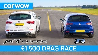 Volkswagen Golf R vs Cupra Ateca - DRAG & ROLLING RACE