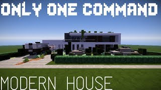 💯Minecraft:ONLY ONE COMMAND MODERN MANSION