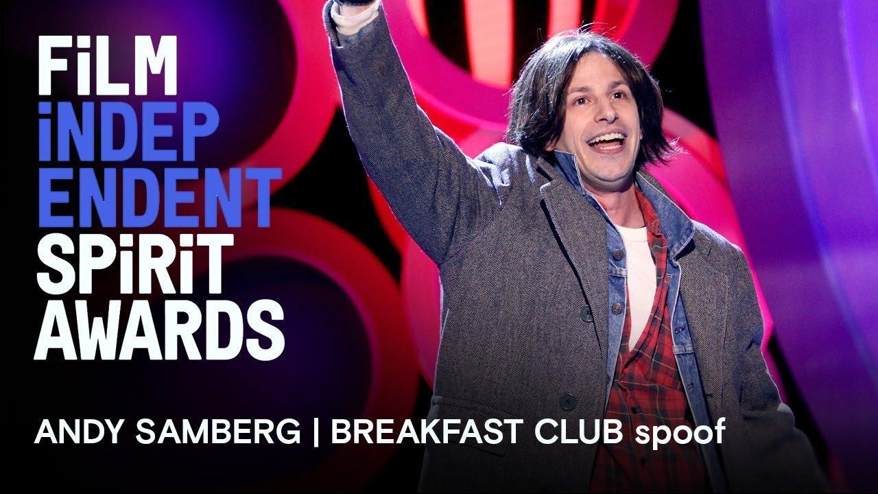 Andy Samberg | Breakfast Club in memoriam tribute | 2018 Film Independent Spirit Awards