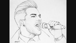 ᴗ* ~)◞✺ Beautiful drawings by @lovesquall1 アダム・ランバート @adam...
