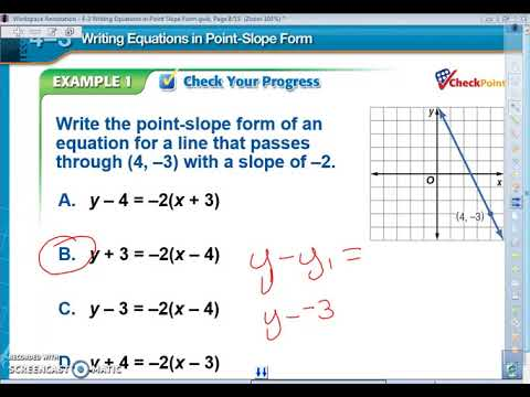 4 3 Point Slope Formula