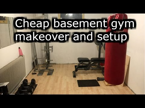 cheap basement gym makeover and setup  youtube