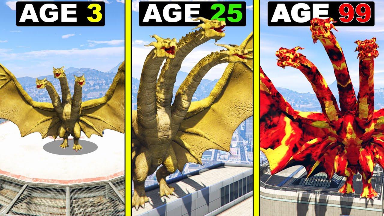 Surviving 99 YEARS As KING GHIDORAH in GTA 5