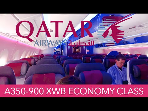 Qatar Airways A350 XWB Philadelphia ✈ Doha ✈ Hong Kong Econo