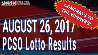 PCSO Lotto Results Today August 26, 2017 (6/55, 6/42, 6D, Swertres & EZ2)
