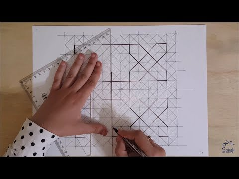 How to draw an Islamic geometric pattern #7 | زخارف اسلامية هندسية