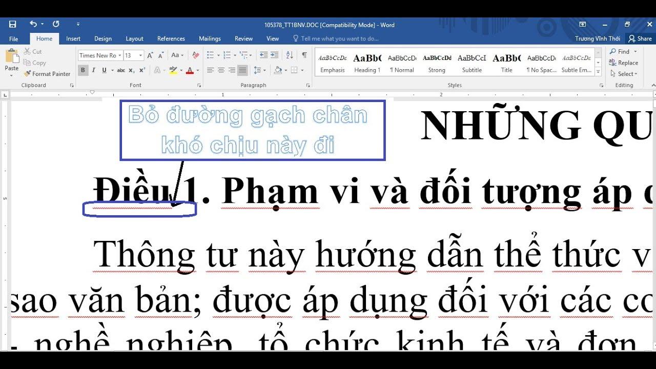 Cách bỏ dấu gạch chân màu đỏ gây khó chịu trong Word và  Powerpoint