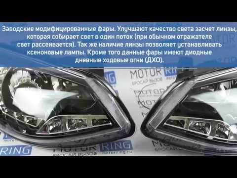 Тюнинг фары с линзой и ДХО на Лада Калина 2   MotoRRing.ru