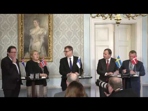 Nordic prime ministers' press conference
