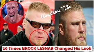 10 Times BROCK LESNAR Changed His Look | brock lesnar | By Wrestlers Tube