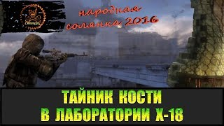 Сталкер Народная солянка 2016 Тайник Кости в Х-18 все места.