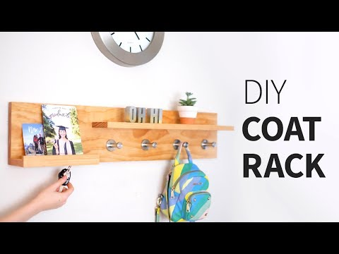 DIY coat rack organizer shelf... thing | Woodworking how to