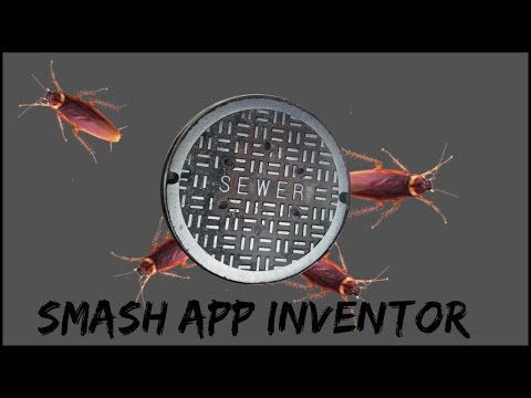 Smashing cockroaches app game. Smash insects MIT App inventor New tutorial