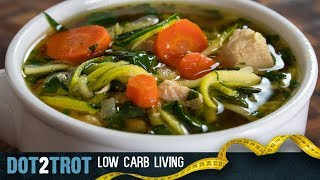 Paleo Chicken Zoodle Soup | Low Carb