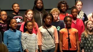 5th grade honor choir 2015 - Kookaburra (rehearsal)