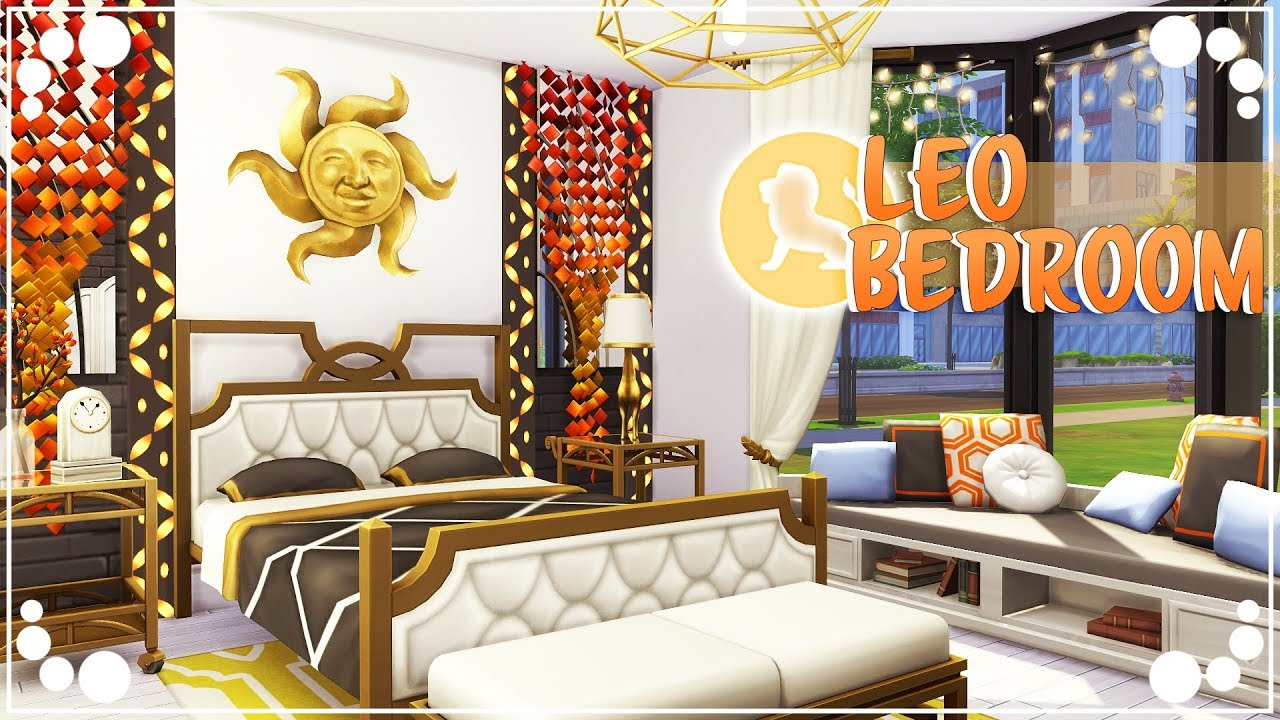 Leo Bedroom Zodiac Sign Series The Sims 4 Room Build Youtube