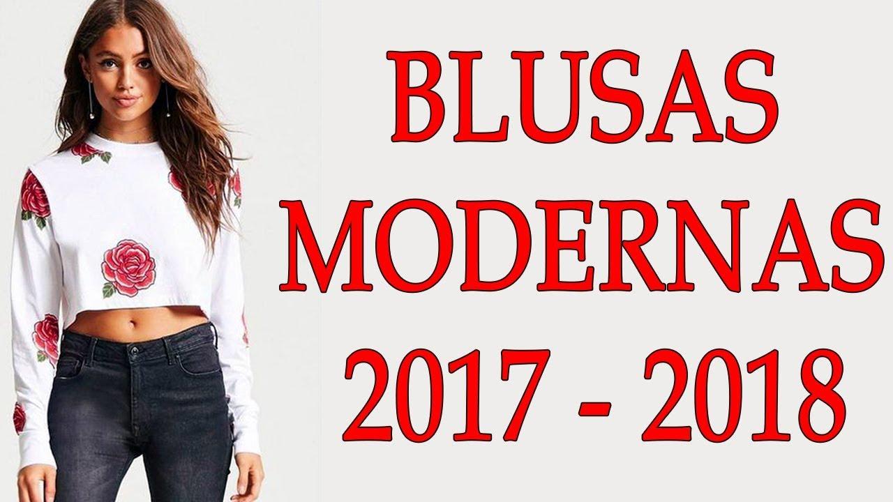 7b880d901d8a BLUSAS DE MODA PARA MUJER || BLUSAS MODERNAS PARA MUJER 2017-2018 || MODA  PARA MUJER TV