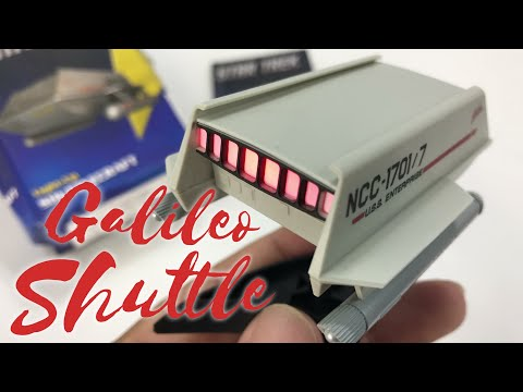 star-trek:-light-up-galileo-shuttlecraft-(miniature-editions)-toy-review