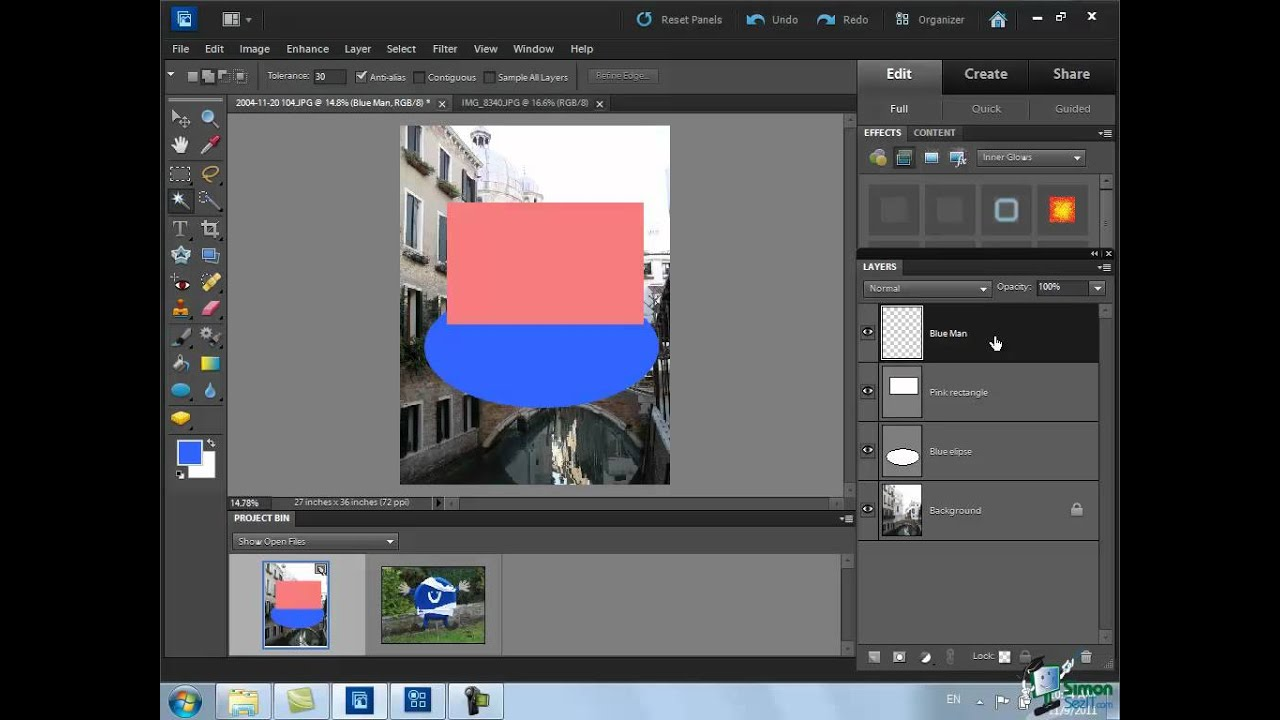 how to connect layers in photoshop