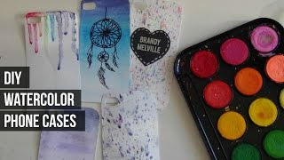 DIY Watercolor Phone Cases