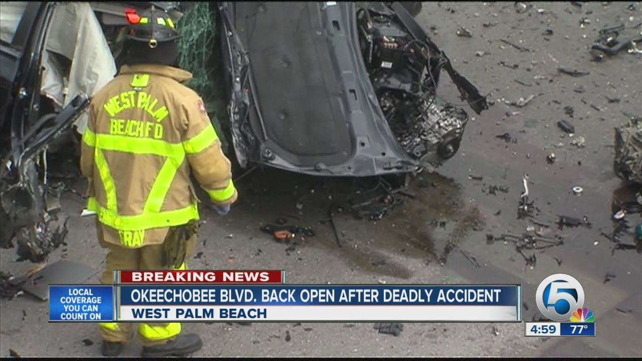 Okeechobee Blvd  back open after deadly accident