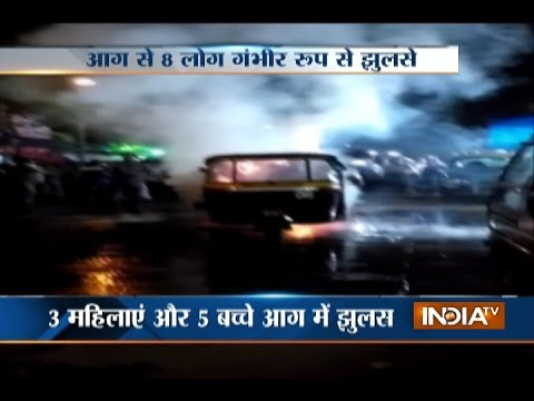 Moving auto catches fire in Mumbai, 8 critically injured