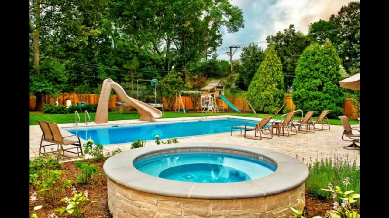 decoración de jardines con piscina en tu patio - youtube