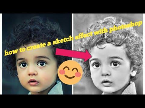 عمل تأثيييييير  pencil drawing..sketch effect - فووتووشووب - photoshop cc 2018 thumbnail