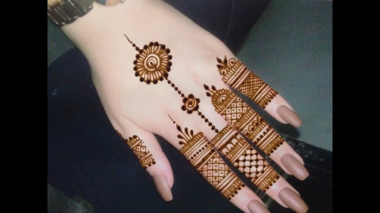 tattoo Mehndi for back hand